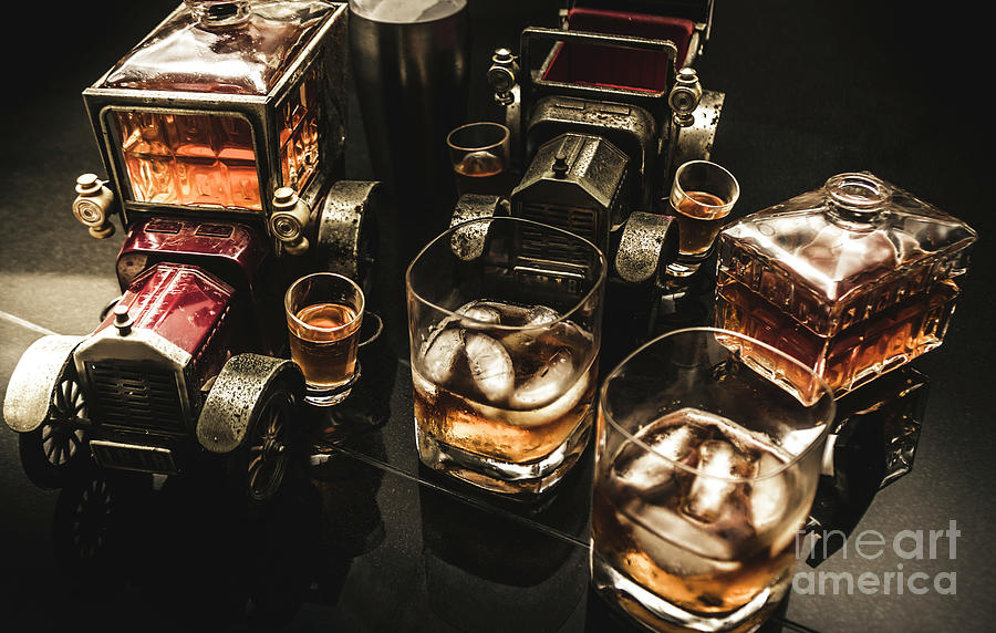 Beverage Photograph - Cognac Cars by Jorgo Photography - Wall Art Gallery