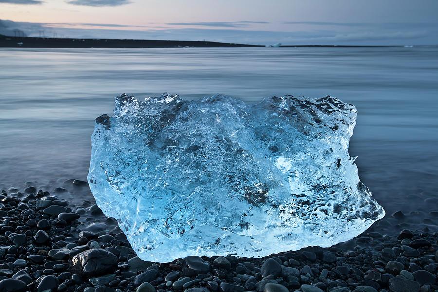 Cold Blue Glacier Ice Photograph by Esslingerphoto.com