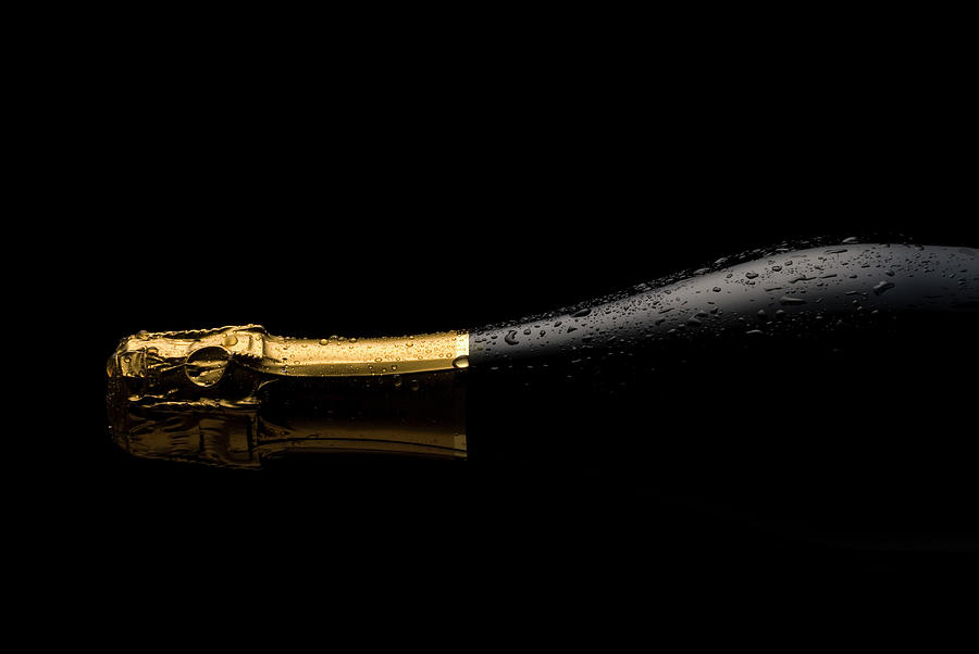 Cold Champagne Bottle Photograph by P1images