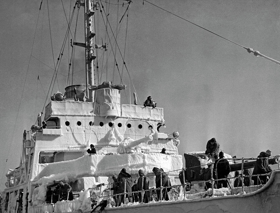 Cold Coast Guard Cutter by Underwood Archives