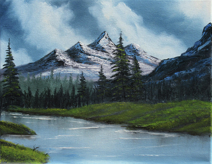 Landscape Painting - Cold Mountain Stream by Forrest Girrard