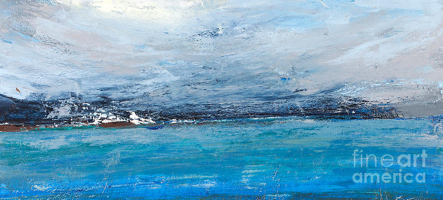 A Digital Art - Cold Ocean, Landscape With The Sea by Ingaga