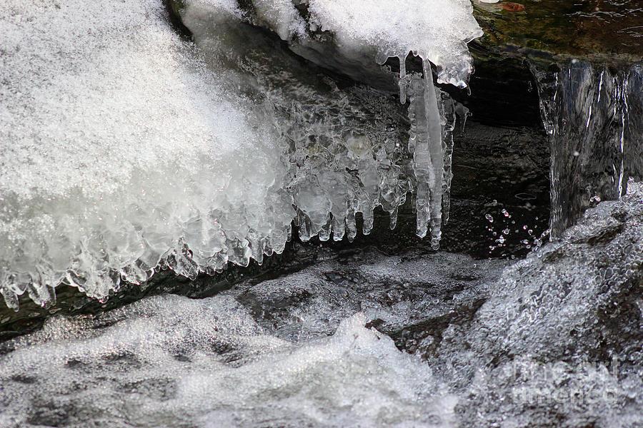 Cold Splash on the Rocks by Karen Adams