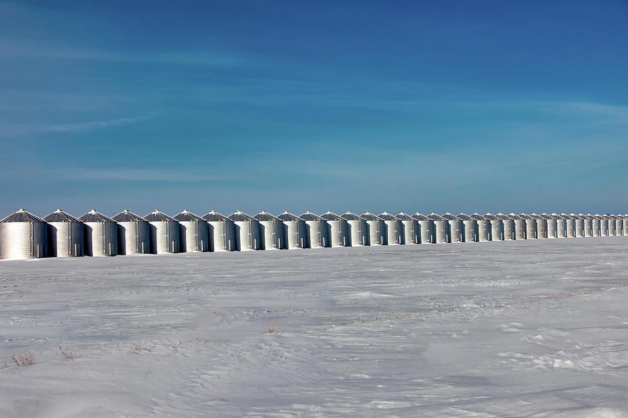 Grain Bins Photograph - Cold Storage by Todd Klassy