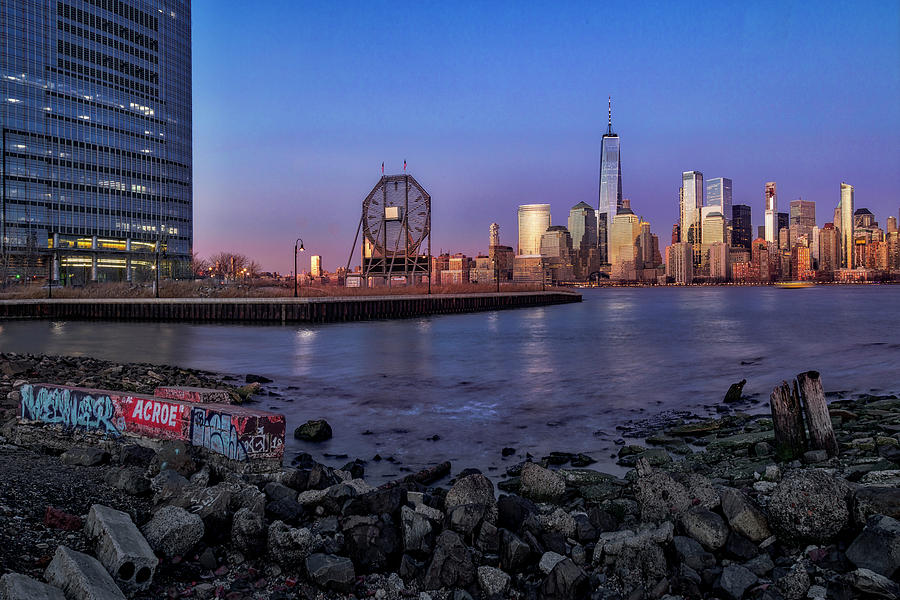Colgate Clock and NYC Skyline by Susan Candelario