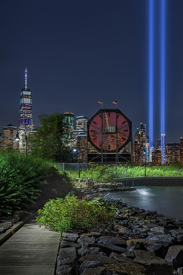 Colgate Clock WTC 911 Tribute In Lights by Susan Candelario