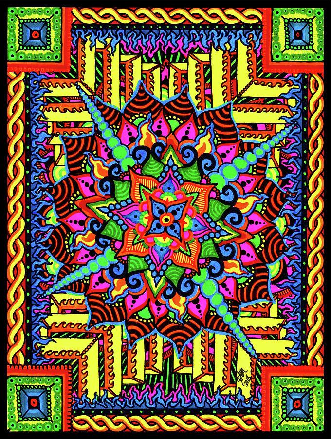 Colin's Mandala by Baruska A Michalcikova