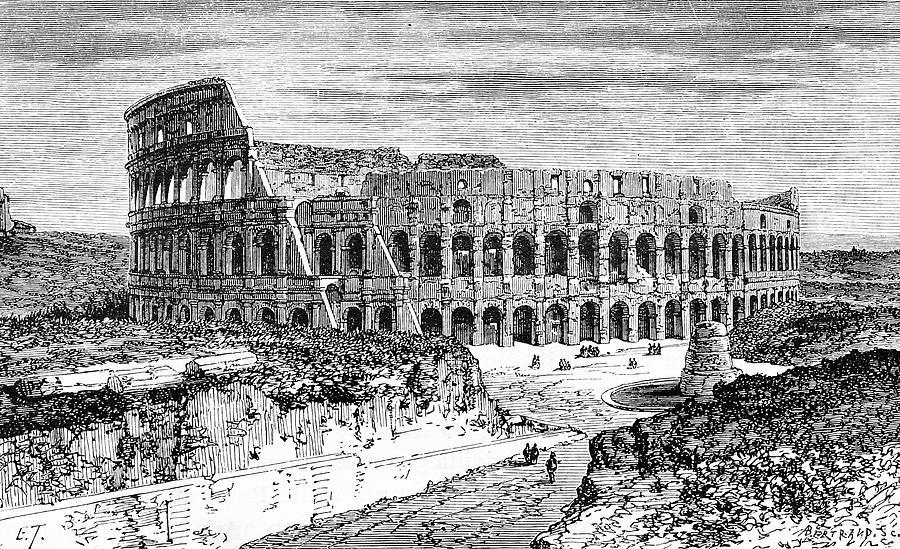 Coliseum Digital Art by Ilbusca