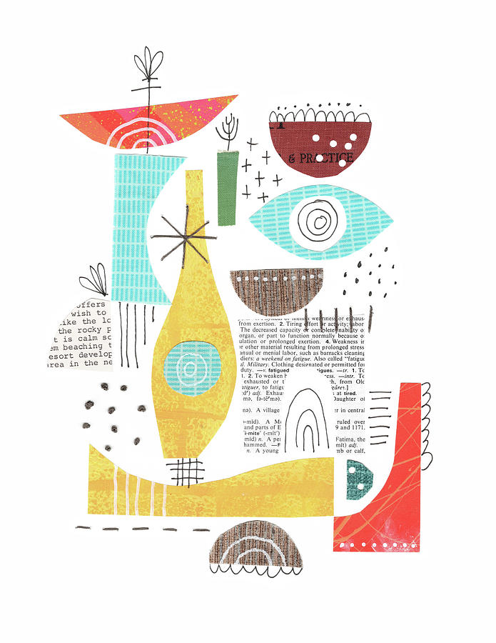 Collage And Stitch  by Lucie Duclos