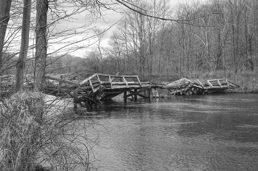 Collapsed Bridge at Waterloo Village by Christopher Lotito