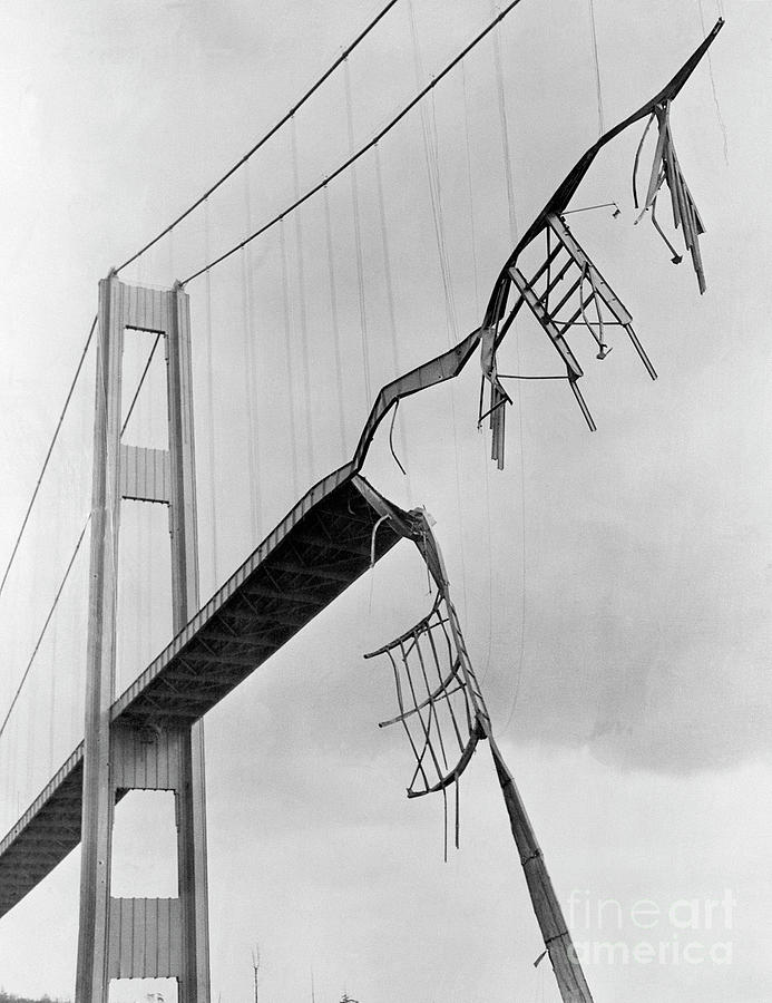 Collapsed Tacoma Narrows Bridge Photograph by Bettmann
