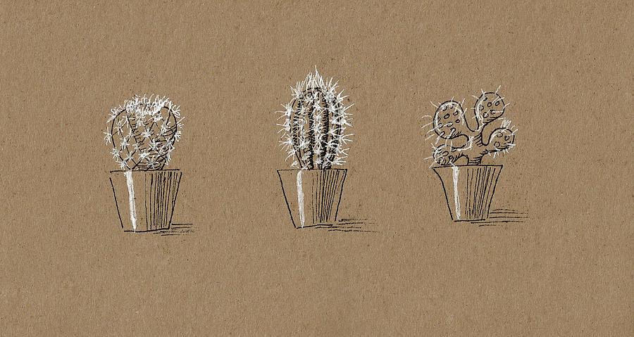 Collection of Cactuses by Masha Batkova