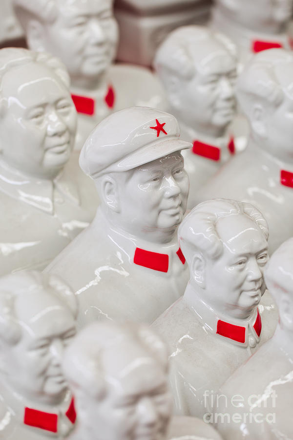 Communist Photograph - Collection White Mao Zedong Sculptures by Tonyv3112