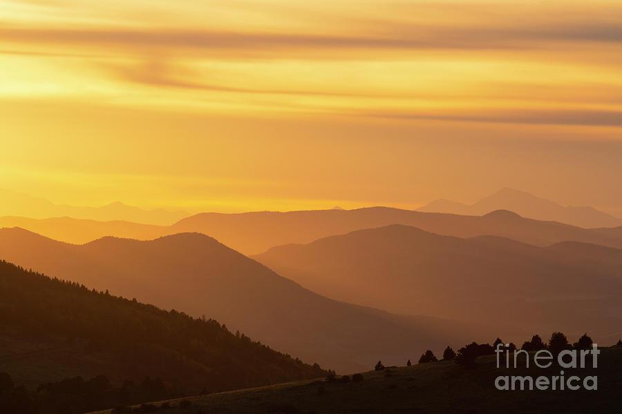 Collegiate Peaks Sunset Photograph