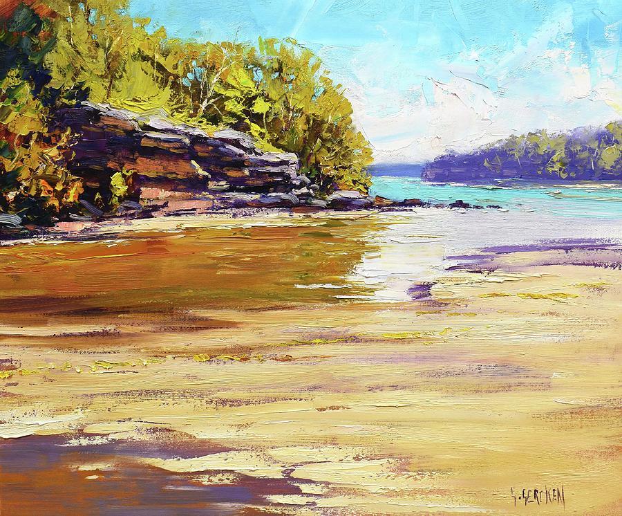 Beaches Painting - Collins Beach Sydney by Graham Gercken