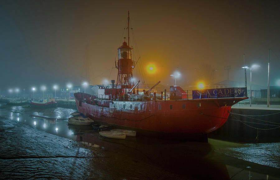 Colne lightship in the fog by Gary Eason
