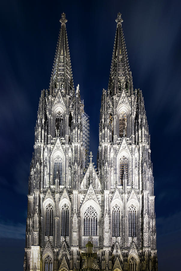 Cologne Cathedral At Dusk Photograph by Jorg Greuel