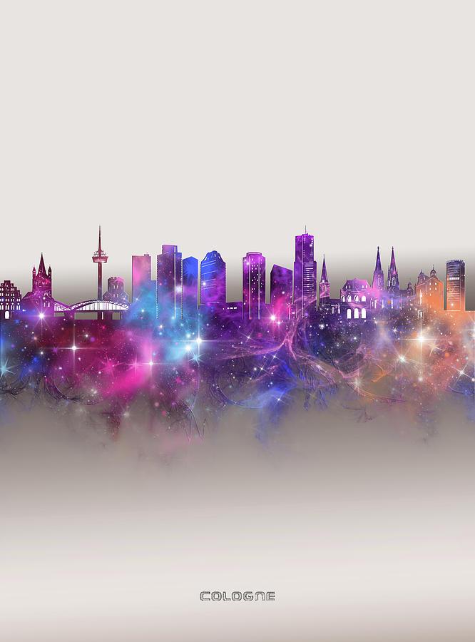 Cologne Skyline Galaxy Digital Art