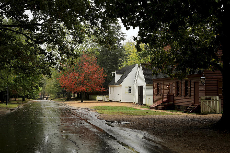 Colonial Williamsburg on a Fall Day by Rachel Morrison