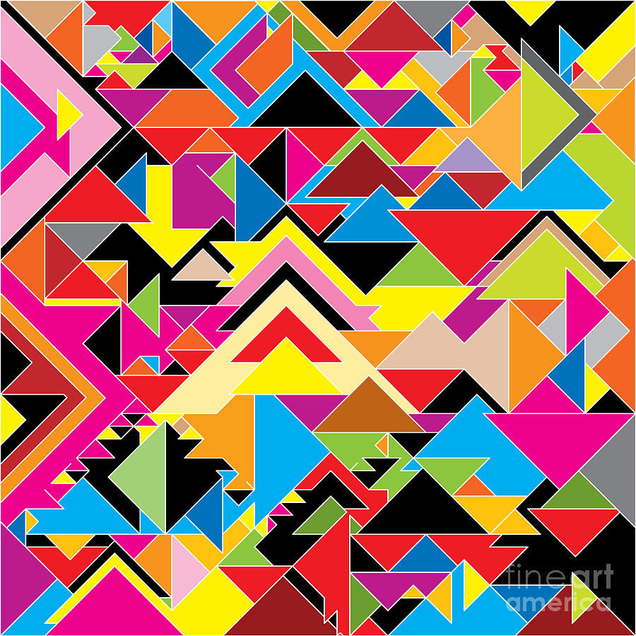 Clipart Digital Art - Color Abstract by Axmbacking