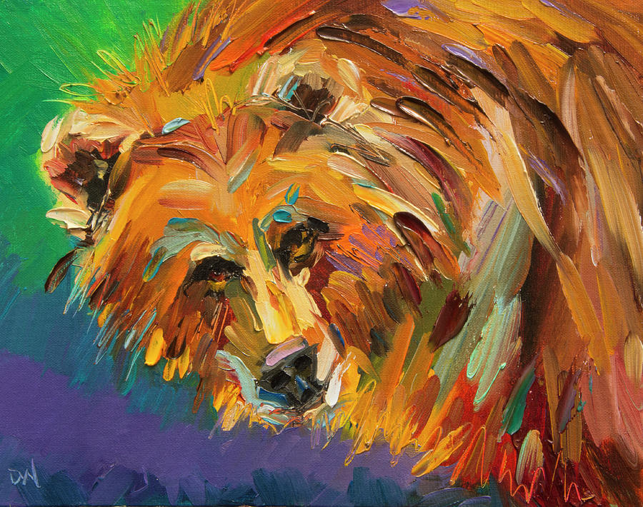 Bear Painting - Color Bear by Diane Whitehead