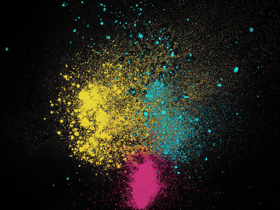 Color Dust Magenta Yellow And Cyan Photograph by Edgardo Contreras