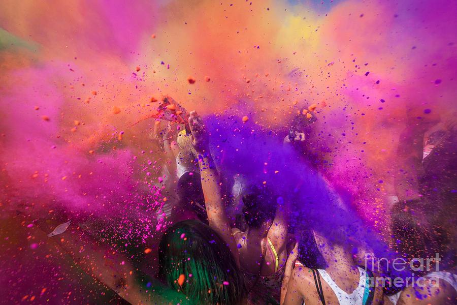 Happy Photograph - Color Festival by Adam Filipowicz