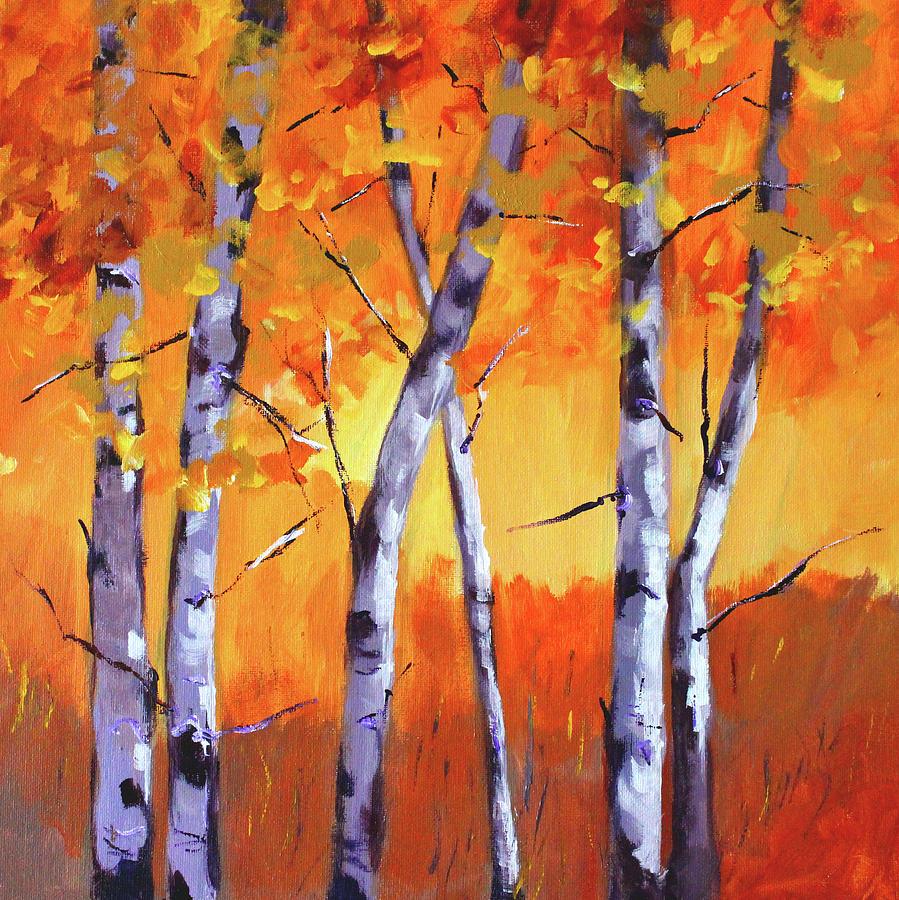Colorful Painting - Color Forest Landscape by Nancy Merkle