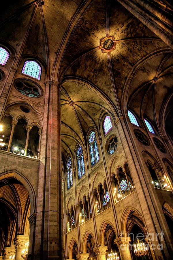 Color Interior Notre Dame Paris 2008 by Chuck Kuhn