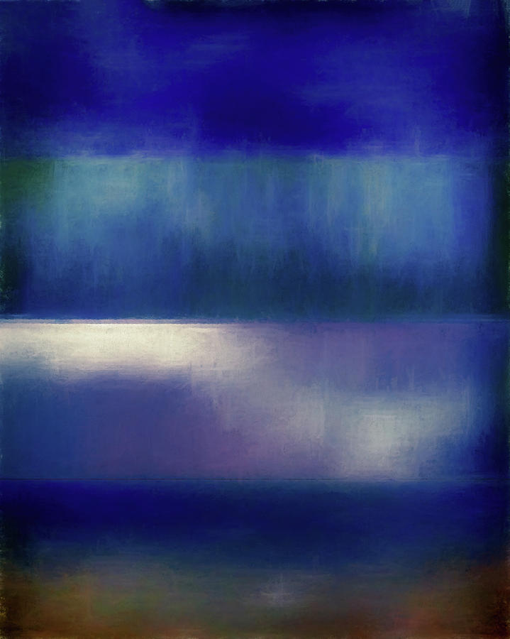 Abstract Digital Art - Color Of The Blues by Jon Woodhams