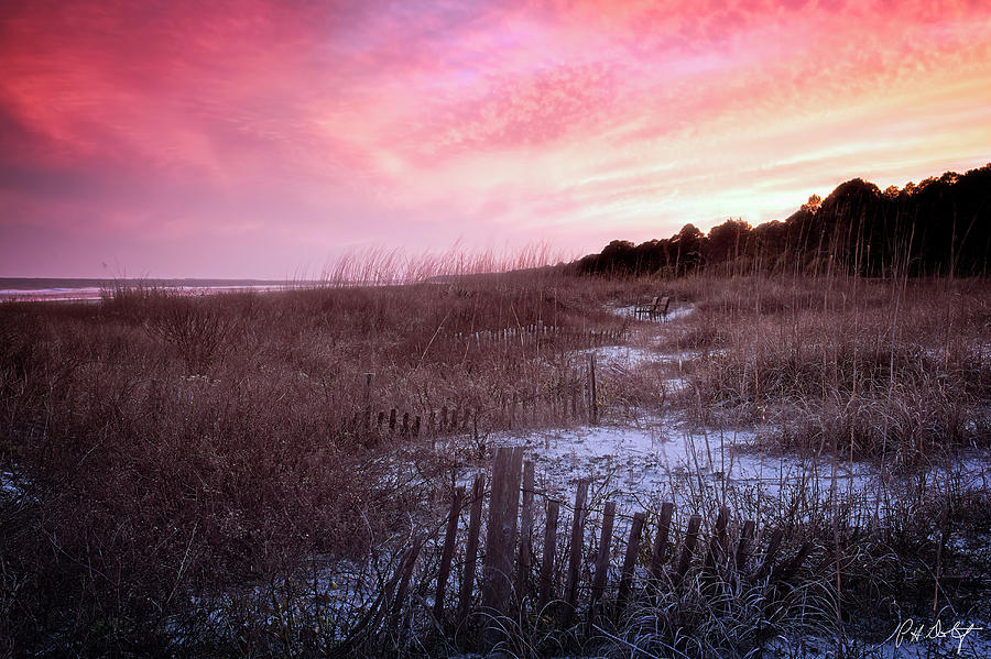Atlantic Ocean Photograph - Color Over The Dunes by Phill Doherty