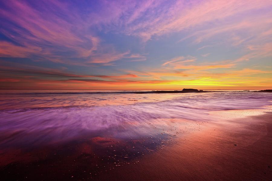 Color Splash At Sunset Laguna Beach Photograph By Eric Lo