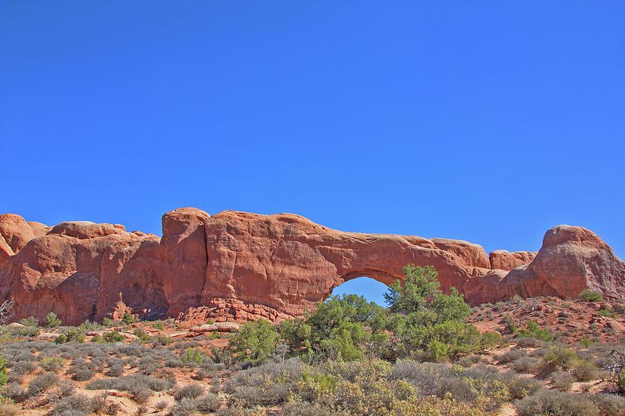 Colorado Arches Rock, Scrub Blue Sky 3397 Photograph by David Frederick