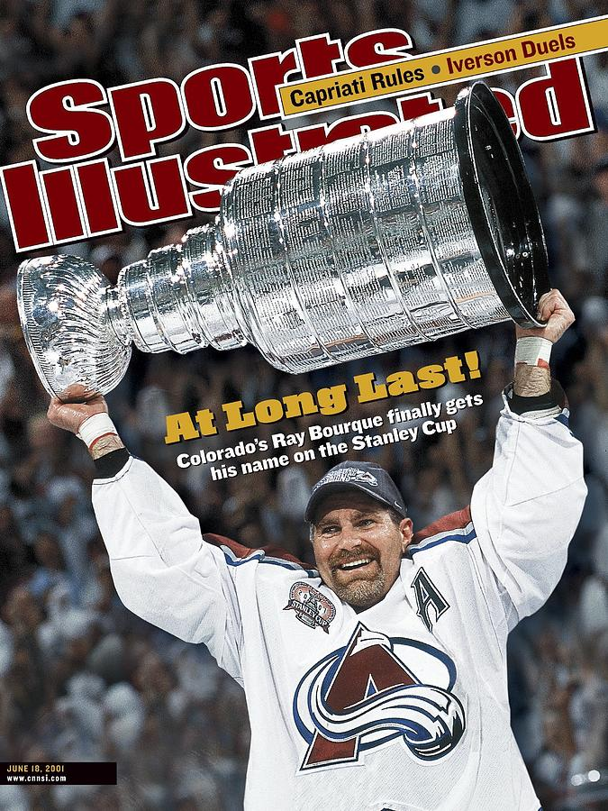 Colorado Avalanche Ray Bourque, 2001 Nhl Stanley Cup Finals Sports Illustrated Cover Photograph by Sports Illustrated