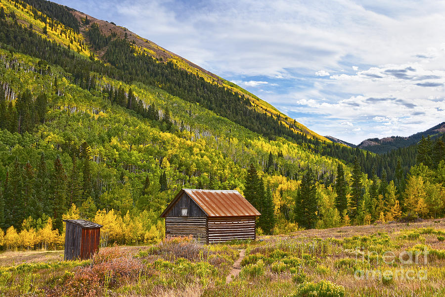 Colorado Ghost Town Cabin by Catherine Sherman
