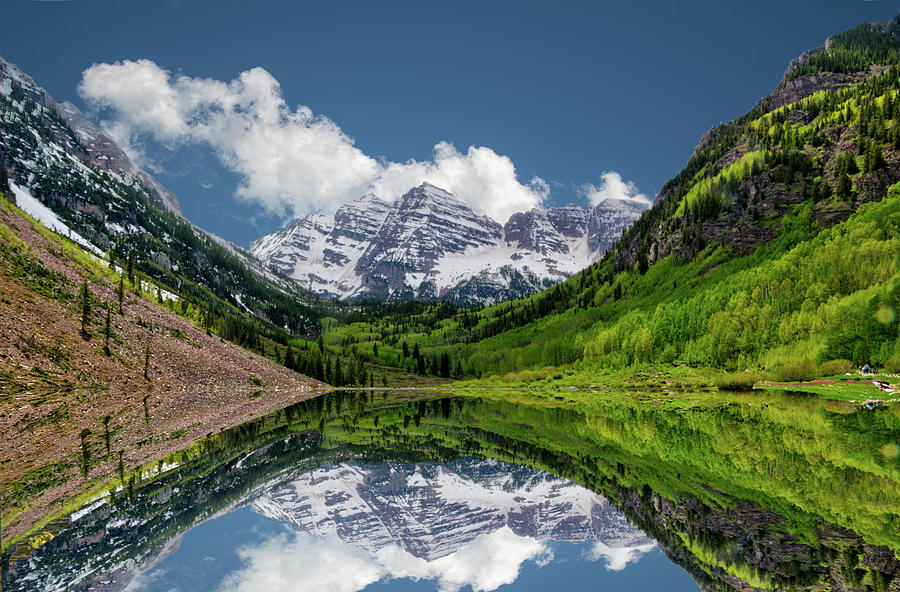 Colorado mountain reflection by Dan Friend