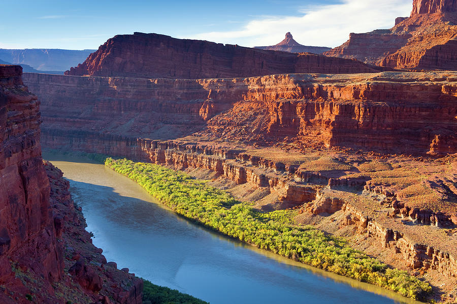 Colorado River Flowing Through Canyon Photograph by Adventure photo