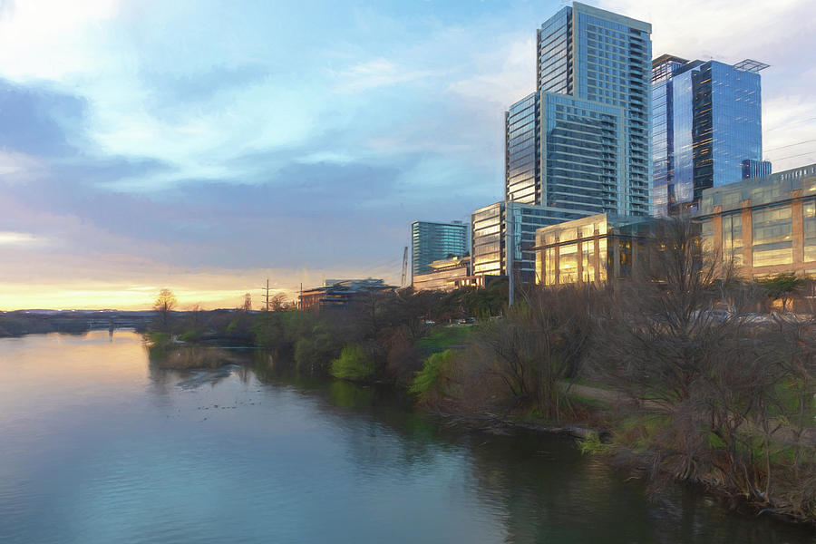 Colorado River in Austin by Wade Brooks