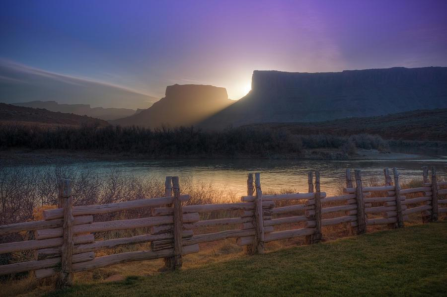 Colorado River Sunrise, Moab, Utah, Usa Photograph by Fotomonkee