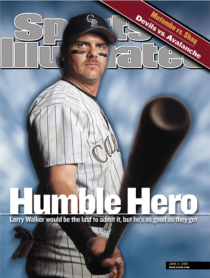 Colorado Rockies Larry Walker Sports Illustrated Cover Photograph by Sports Illustrated