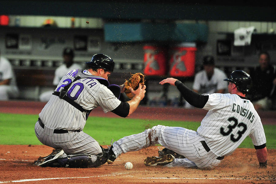 Colorado Rockies V Florida Marlins Photograph by Ronald C. Modra/sports Imagery