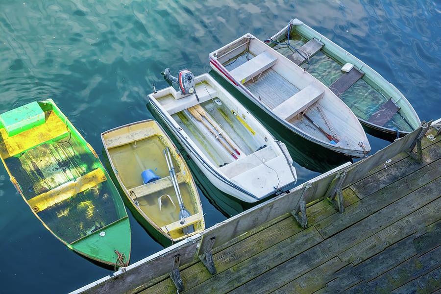 Colored Boats by Patti Raine