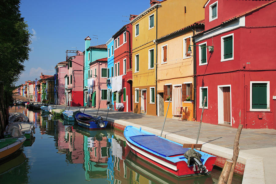 Colored Houses On The Island Of Burano Photograph by Guy Vanderelst