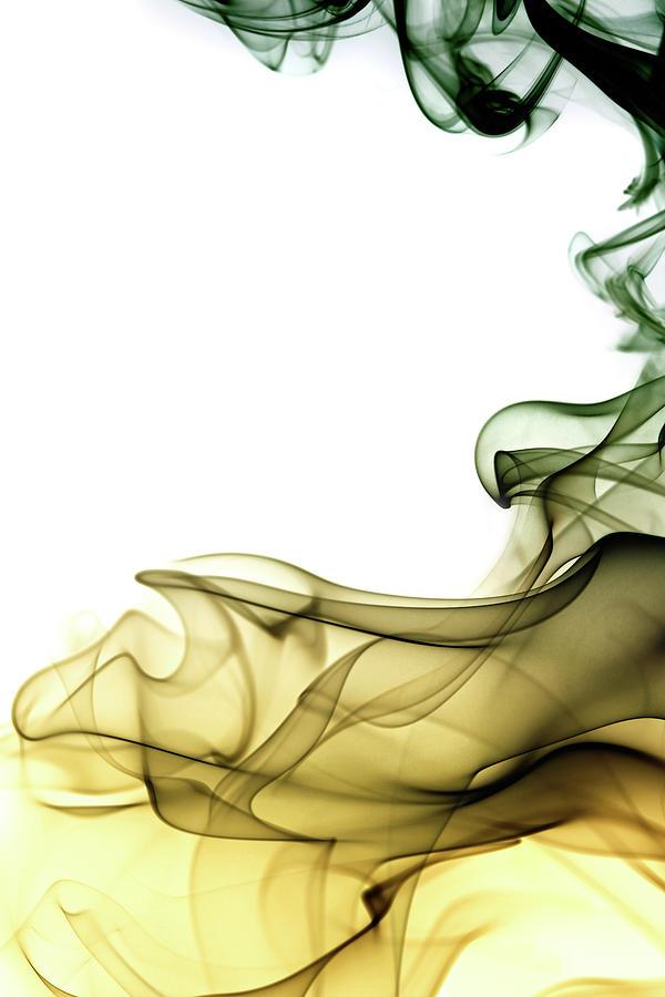 Colored Smoke Swirls Photograph by Vasiliki