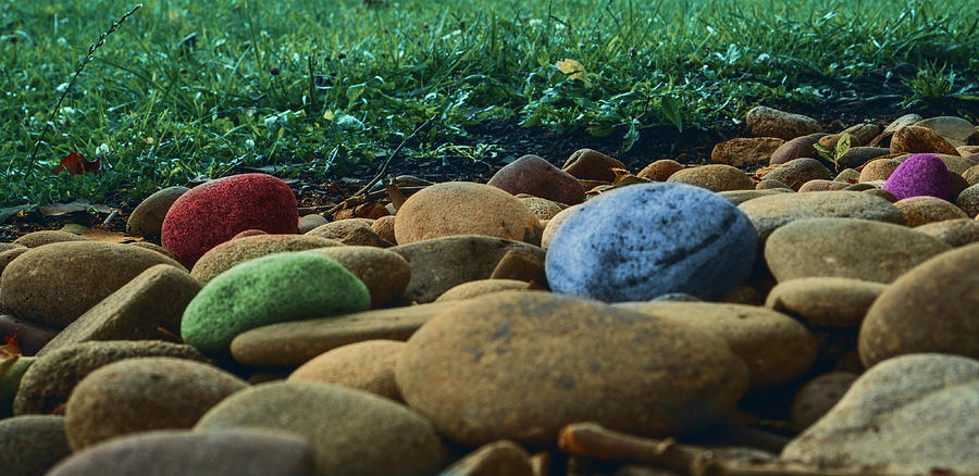 Colored Stones by Jason Fink
