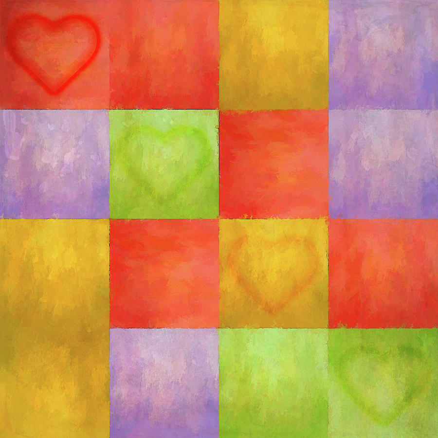 Colored Tiles with Hearts by Jason Fink