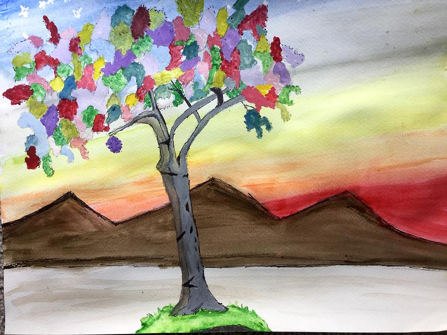 Colored Tree by Gayle Zeigler