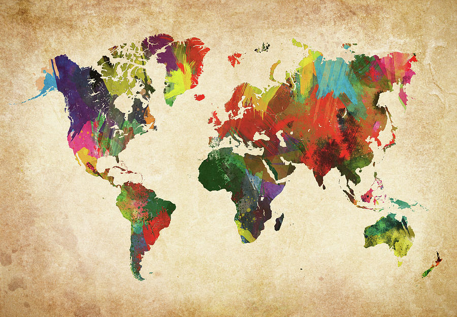Colored World Map Xxxl Photograph by Sorendls
