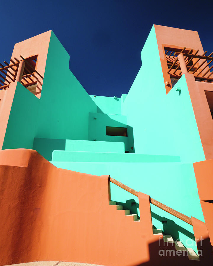 Colorful Adobe Style Buildings by George Oze