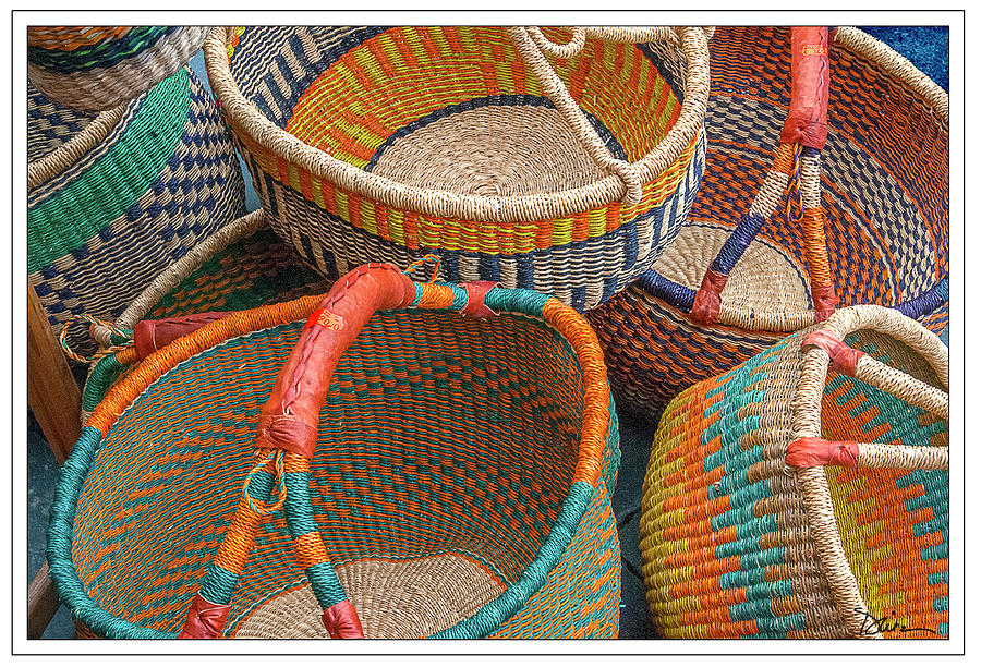 Colorful Baskets from Nurenberg Market by Peggy Dietz